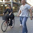 Exclu : promenade à vélo pour Lady Gaga dans les rues de Copenhague, le 3 septembre 2012.