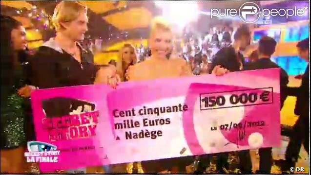 Nadège Jones remporte Secret Story 6, vendredi 7 septembre 2012 sur TF1