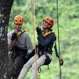 Le prince William et son épouse Kate Middleton en visite dans la forêt tropicale de Sabah sur l'île de Borneo le 15 septembre 2012