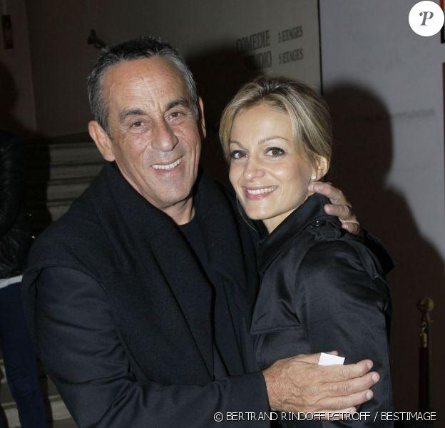 Thierry Ardisson et Audrey Crespo-Mara lors de l'avant-première de la pièce Des fleurs pour Algernon. Vendredi 14 septembre 2012