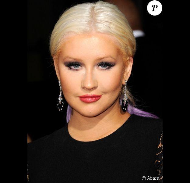 Christina Aguilera, bouffie, lors des ALMA Awards à Pasadena, à Los Angeles, le 16 septembre 2012