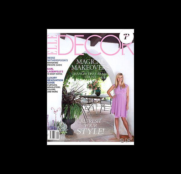 Reese Witherspoon en couverture de Elle Decor, juillet 2012.