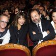 Christophe Lambert, Sophie Marceau, Denis Olivennes et Inès de la Fressange lors de la représentation de la pièce Comme s'il en pleuvait le 17 septembre 2012 à Paris