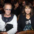 Christophe Lambert et Sophie Marceau lors de la représentation de la pièce Comme s'il en pleuvait le 17 septembre 2012 à Paris