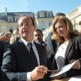 Valérie Trierweiler et François Hollande à l'Eylsée pour les Journées du patrimoine, le 16 septembre 2012.