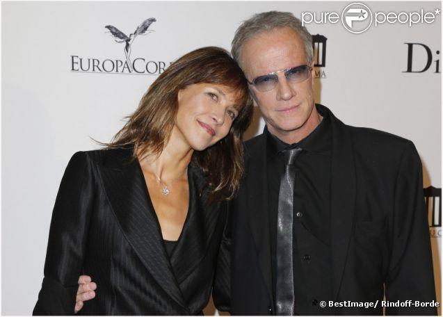 Sophie Marceau et Christophe Lambert lors de la soirée d'inauguration de la Cite du Cinéma à Saint Denis le 21 septembre 2012