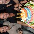 Thomas (Secret Story 6) découvre son gâteau, le samedi 22 septembre 2012 au Loft Metropolis, à Rungis, près de Paris.
