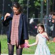 Katie Holmes et Suri Cruise ont passé un doux moment dans un parc de Brooklyn, à New York le 24 septembre 2012.
