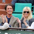 Vincent Cerutti et Lavinia à Roland-Garros, en juin 2012.