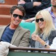 Vincent Cerutti et Lavinia, fous amoureux, à Roland-Garros, en juin 2012.