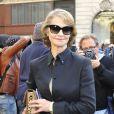Charlotte Rampling arrive à l'Opéra Garnier pour assister au défilé Stella McCartney printemps-été 2013. Paris, le 1er octobre 2012.