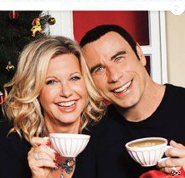 La pochette de l'album de John Travolta et Olivia Newton-John, This Christmas.