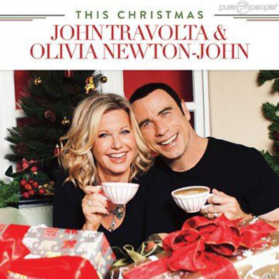 La pochette de l'album de John Travolta et Olivia Newton-John,  This Christmas .