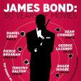 Infographie ingénieuse regroupant les chiffres importants de la saga James Bond