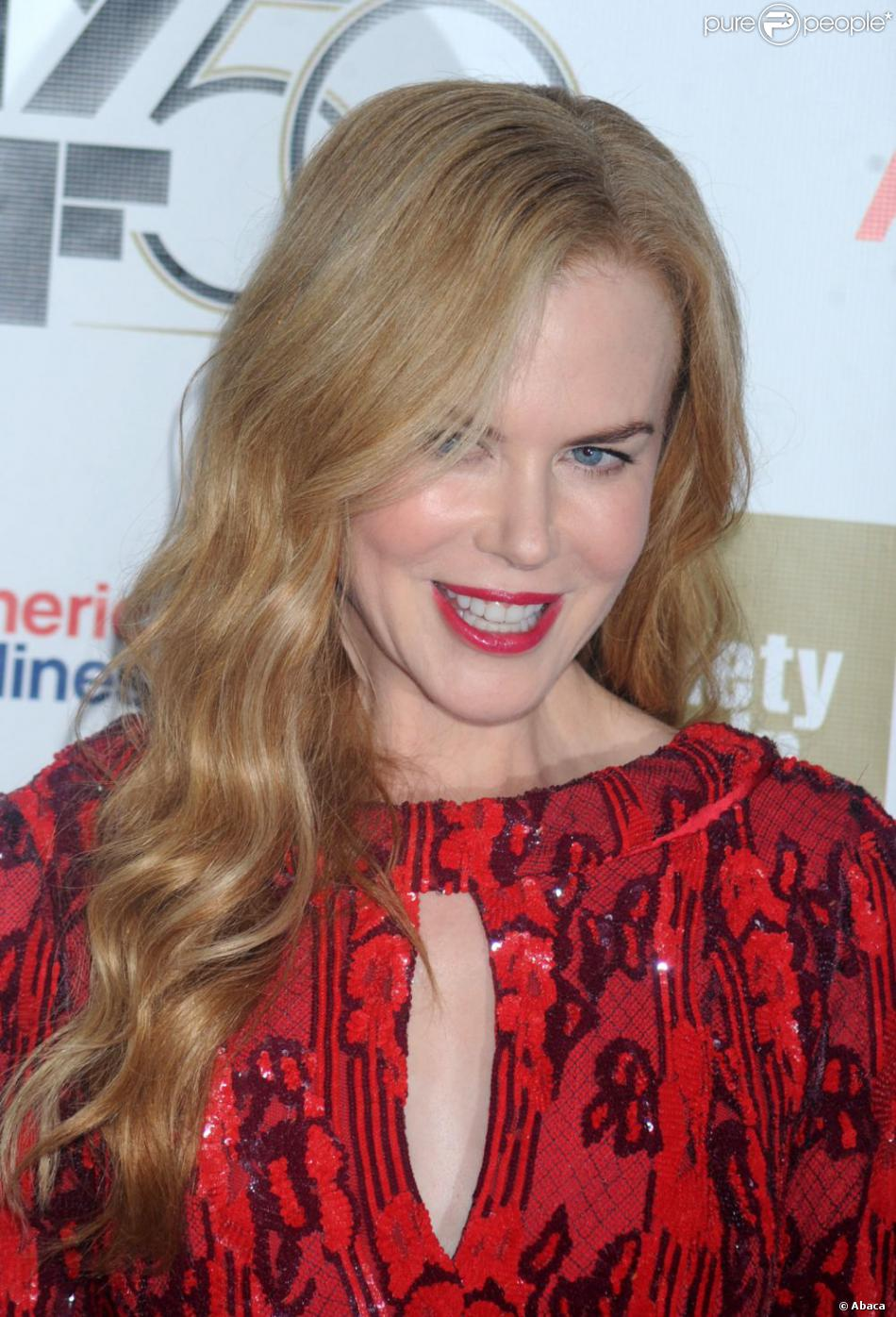 Nicole Kidman, honorée lors du gala de la Film Society of Lincoln Center à New York, le 3 octobre 2012.