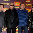 Jason Bonham, Robert Plant, John Paul Jones et Jimmy Page de Led Zeppelin à la première de  Celebration Day  au Ziegfeld Theatre de New York, le 9 octobre 2012.
