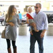 Guy Ritchie et Jacqui, enceinte : Fiancés, ils s'envolent avec leur petit Rafael