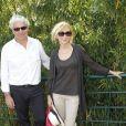 Marie-Anne Chazel et son compagnon Philippe Raffard à Roland Garros le 27 mai 2012.
