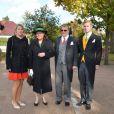 Irina, Nina, Christian-Sigismund et Christian de Prusse au mariage religieux de la duchesse Rixa d'Oldenburg et Stephan Sanders, samedi 13 octobre 2012 à Hambourg.