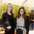 Sarah Marshall et Olivia Palermo prennent la pose au déjeuner Montblanc pour la présentation de la collection L'Aubrac à Paris le 16 octobre 2012.