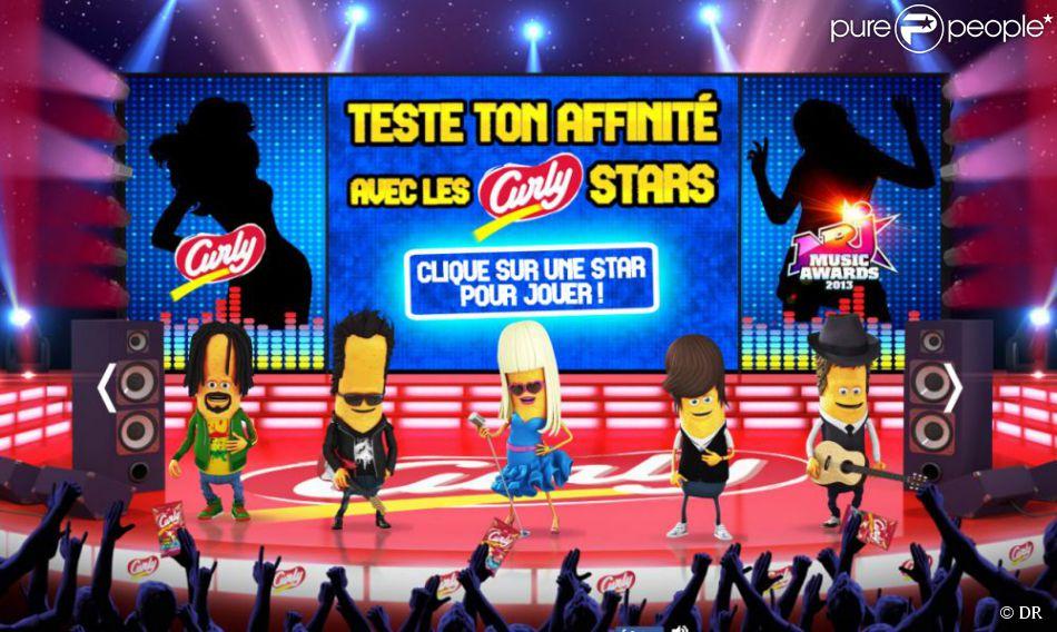 Participez au jeu concours Curly Star pour tenter de gagner un Pass VIP pour les NRJ Music Awards 2013 à Cannes et d'autres cadeaux.