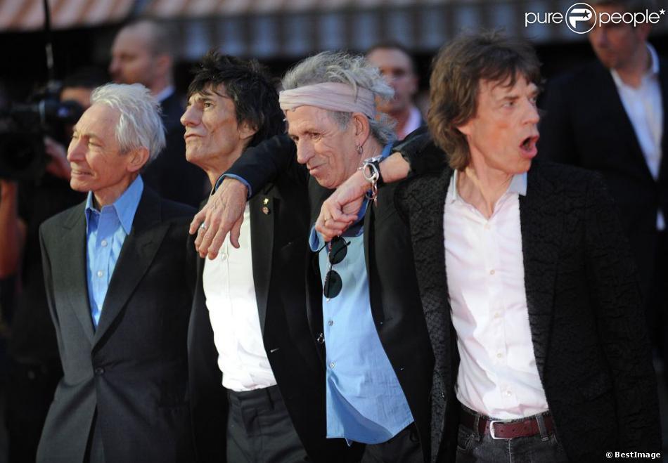 Les Rolling Stones à l'avant-première du documentaire  Crossfire Hurricane  à Londres, le 18 octobre.