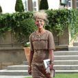 La princesse Caroline de Hanovre sortant de la cathédrale Notre-Dame de Luxembourg où le prince Guillaume et Stéphanie de Lannoy viennent de se marier, le 20 octobre 2012.