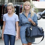 Reese Witherspoon en forme(s) : Journée shopping avec Ava, son portrait craché