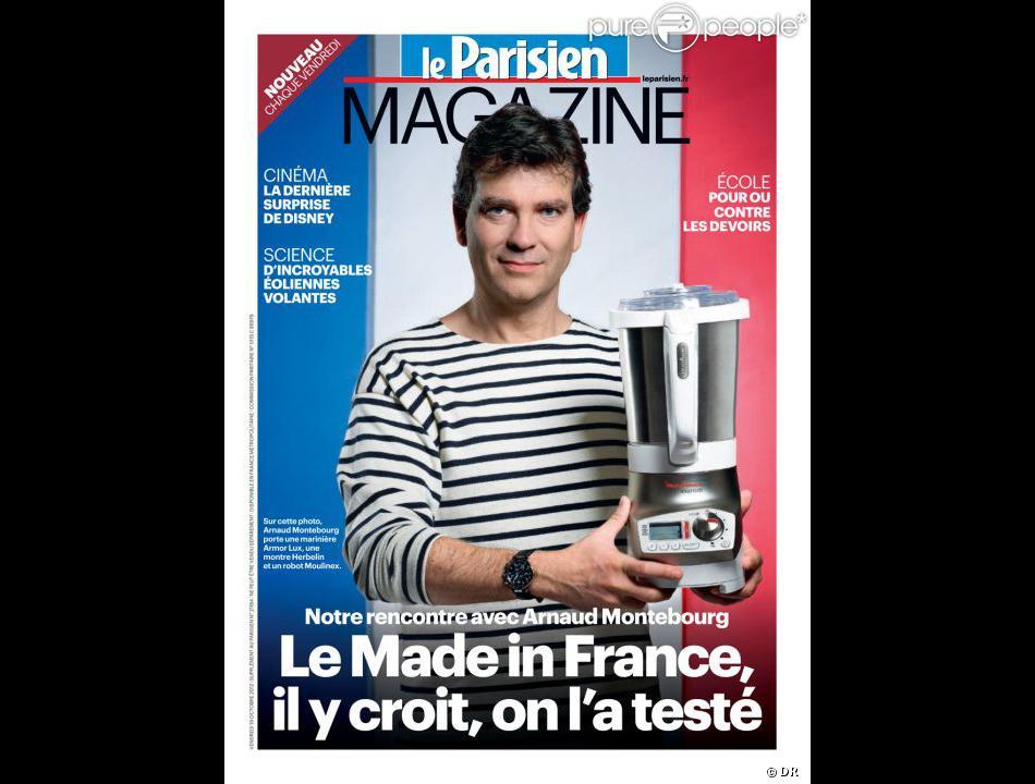 Une du  Parisien Magazine  avec Arnaud Montebourg, 19 ovtobre 2012.