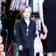 Angelina Jolie takes the kids out to shop for their Halloween costumes at a local Party City Store in Studio City, Los Angeles, CA, USA on October 28, 2012. The 37-year-old actress held tightly onto her twins, Vivienne Marcheline Jolie-Pitt and Knox Léon Jolie-Pitt, while her older daughter Shiloh Nouvel Jolie-Pitt picked out her own accessories. Photo by Ramey Agency/ABACAPRESS.COM29/10/2012 - Los Angeles