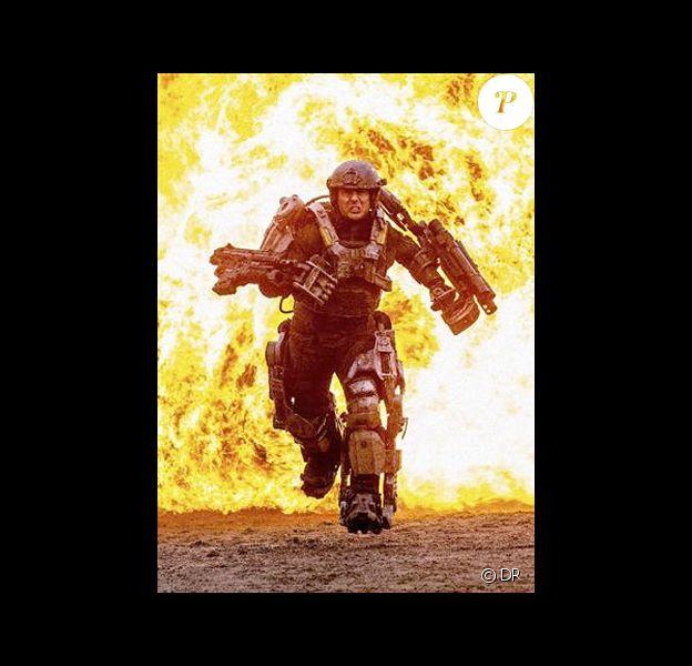 Tom Cruise en pleine action sur le tournage de All You Need Is Kill.