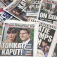 Unes du  New York Daily News  et du  New York Post  rapportant le divorce de Tom Cruise et Katie Holmes en juin 2012