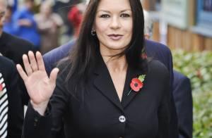 Catherine Zeta-Jones : Heureuse et chic aux côtés des enfants de Cardiff