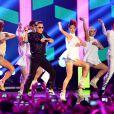 Psy sur la scène des MTV Europe Music Awards, le 11 novembre à Francfort.