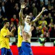 Zlatan Ibrahimovic, auteur d'une partie mémorable face à l'Angleterre à la Friends Arena de Solna en inscrivant un quadruplé dont un retourné accrobatique des 30 mètres en fin de match le 14 novembre 2012