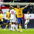 Zlatan Ibrahimovic, a inscrit quatre magnifiques buts face à l'Angleterre à la Friends Arena de Solna le 14 novembre 2012