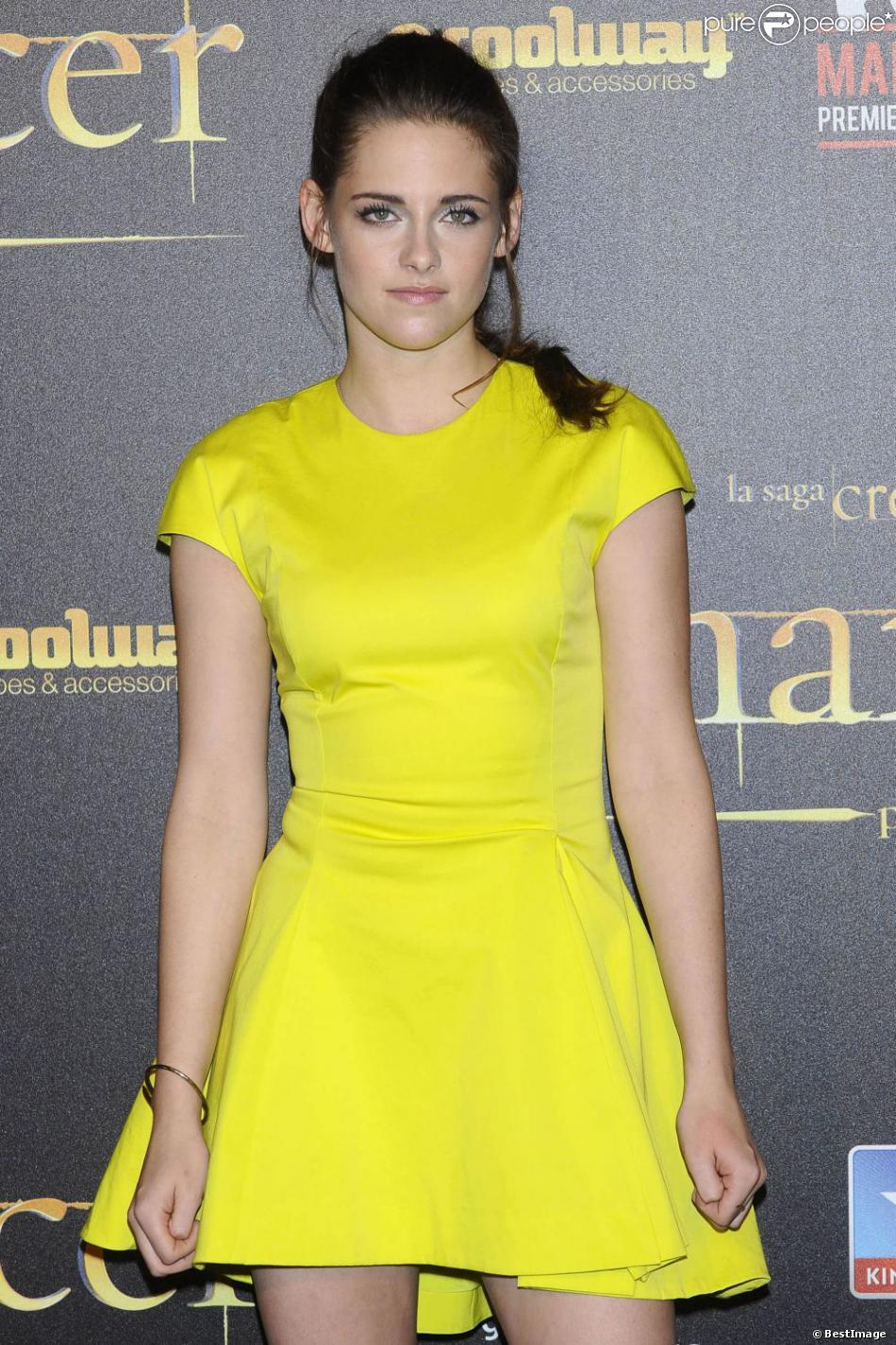 Kristen Stewart à l'avant-première de Twilight à Madrid le 15 novembre 2012.