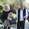 Gwen Stefani arrive chez ses parents pour célébrer Thanksgiving en compagnie de son mari Gavin Rossdale. Los Angeles, le 22 novembre 2012.
