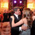 Sylvester Stallone et sa fille Sophia lors de leur danse au Bal des débutantes à Paris à l'hôtel de Crillon le 24 novembre 2012.