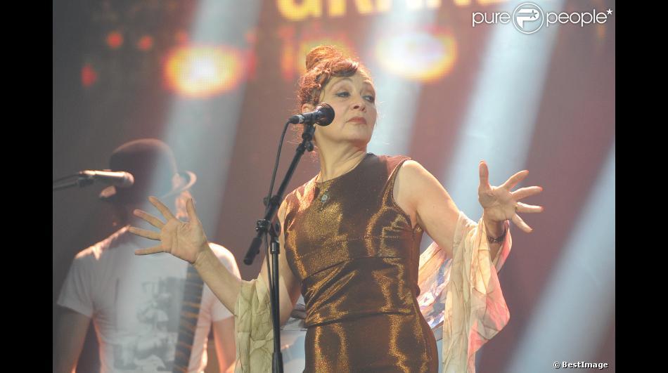 Catherine Ringer (Prix spécial de la Sacem + Distinction numérique INA) à la remise des Grands Prix de la Sacem au Casino de Paris, le 26 novembre 2012.
