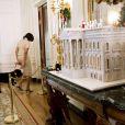 La Maison Blanche en pain d'épices. Michelle Obama a dévoilé les décorations de Noël de la Maison Blanche en présence d'enfants de militaires, le 28 novembre 2012 à Washington.