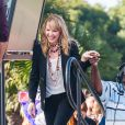 Katherine Heigl sur le plateau de l'emission Extra avec Mario Lopez a Universal City le 10 janvier 2014.  Katherine Heigl at Universal Studios to do an interview for the show EXTRA in Universal City, California on January 10, 2014.10/01/2014 - Universal City