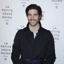 Tahar Rahim au photocall du vernissage de l'exposition 'La Petite Veste Noire' (The Little Black Jackett), photographies de Karl Lagerfeld au Grand Palais à Paris le 8 Novembre 2012.
