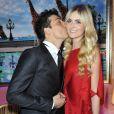 Taïg Khris et son amoureuse Petra lors de la 36e édition du prix 'The Best', aux salon Hoches à Paris, le 11 décembre 2012