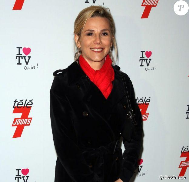 Laurence Ferrari à la soirée 'I love TV on Ice' au Grand Palais des Glaces à Paris, le 12 décembre 2012