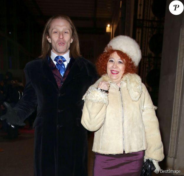 """Morgan et Pascale de Qui veut épouser mon fils ? 2 à la soirée """"I love Tv on Ice"""" au Grand Palais des Glaces à Paris"""