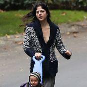 Selma Blair : Amaigrie et la peau sur les os, elle garde le moral avec son fils