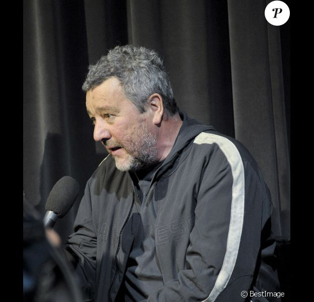 Philippe Starck au salon du meuble à Milan le 17 avril 2012.