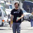 Ashton Kutcher, sur le tournage du biopic sur la vie de Steve Jobs en Californie le 22 juin 2012.
