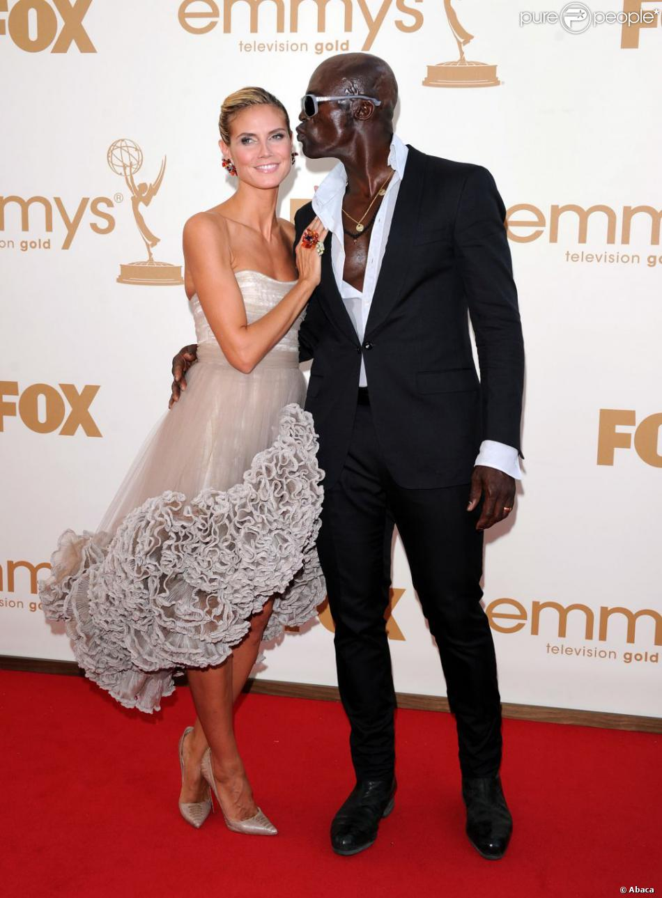 Heidi Klum et Seal lors des Emmy Awards 2011 à Los Angeles. Le 18 septembre 2012.